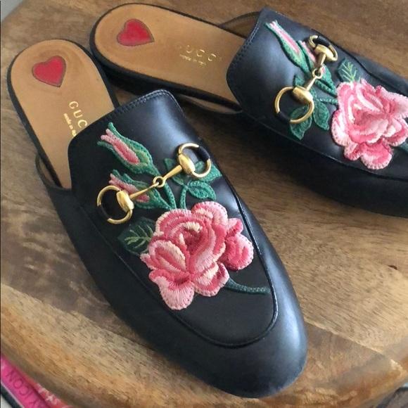 316c5661dbb36 Gucci Shoes - Gucci Princetown floral slides size 37 1 5